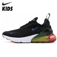 цена на Nike Air Max 270 (gs) Kids Original Children Running Shoes Outdoor Comfortable Sports Sneakers #AQ9164