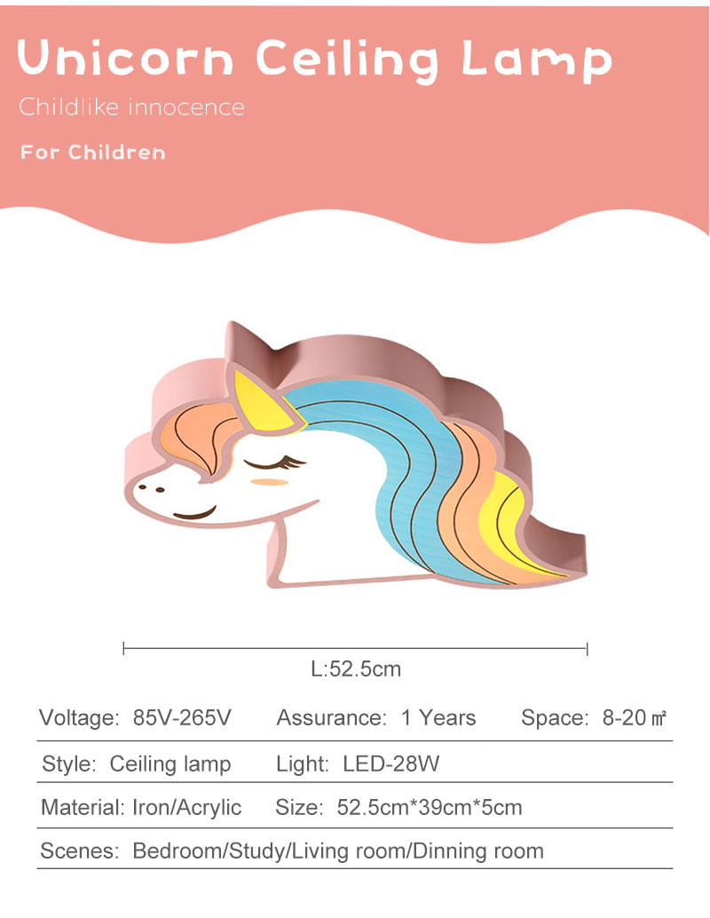 HTB14btIawKG3KVjSZFLq6yMvXXaU Unicorn kids room light led ceiling lights with remote control cartoon lampshade children room cute ceiling lamp deco child room