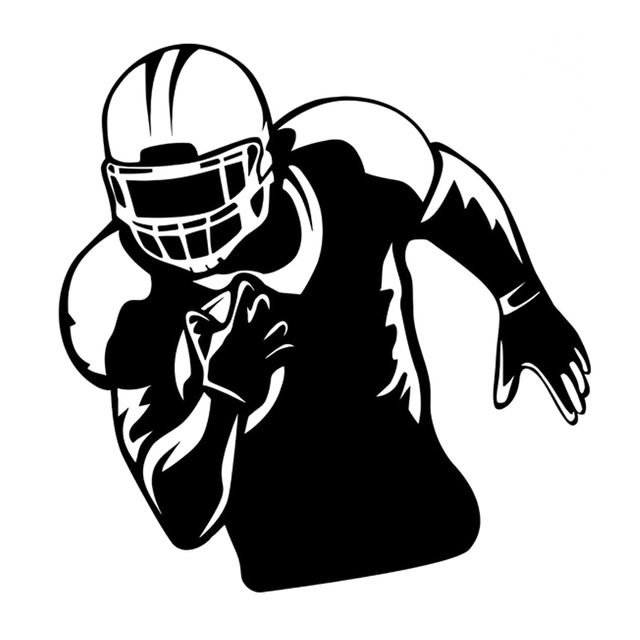 124cm128cm interesting football player sports silhouette decal vinyl car stickers black