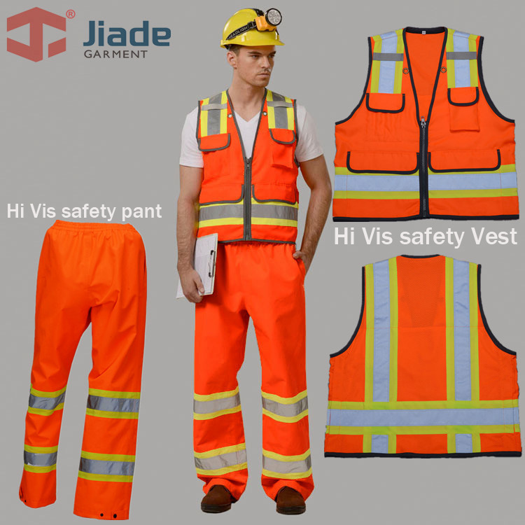 Jiade High Quality High Visibility Reflective Vest Working Clothes Outdoor Reflective Safety Clothing free shipping high visibility safety clothes