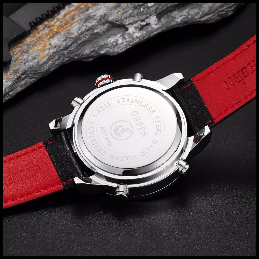OHSEN Brand Mens Fashion Casual Reloj Quartz Watch Digital LED Relogios Military Relogio Masculino Diving Waterproof Men Watches (33)