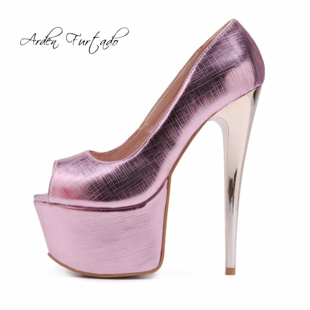 2018 Modo 45 Piattaforma Arden silver Nuova Toe Sexy Furtado Plus 48 Partito Tacchi 46 Cm red Gold Size 16 Estate Di Stiletto Peep Estremo pink 47 Alti Pompe X7nqr5nH