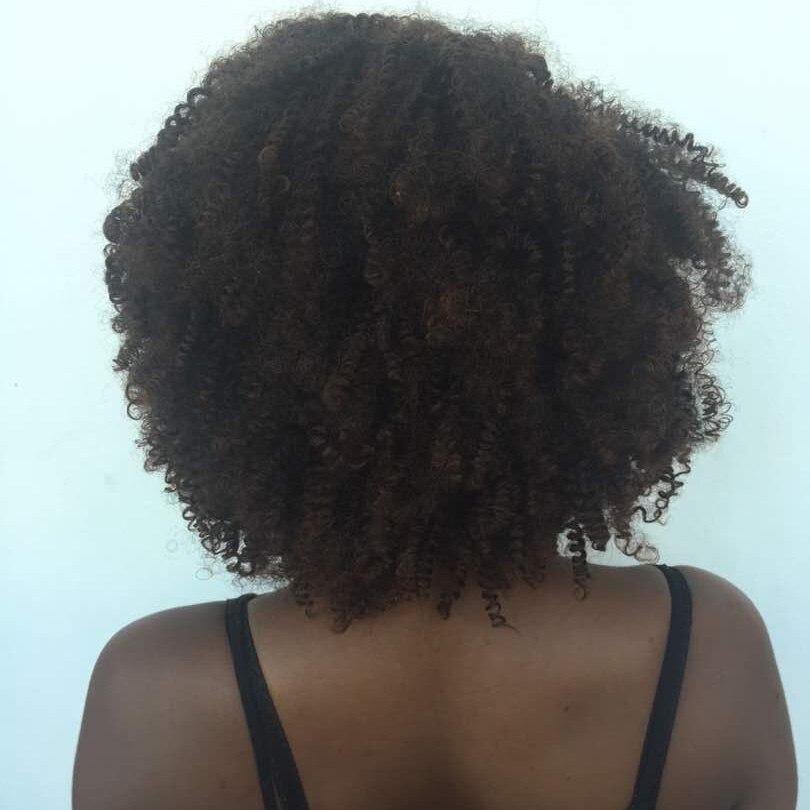 MSIWIGS Short Curly Parykar för svarta kvinnor Hög temperatur Fiber - Syntetiskt hår - Foto 6