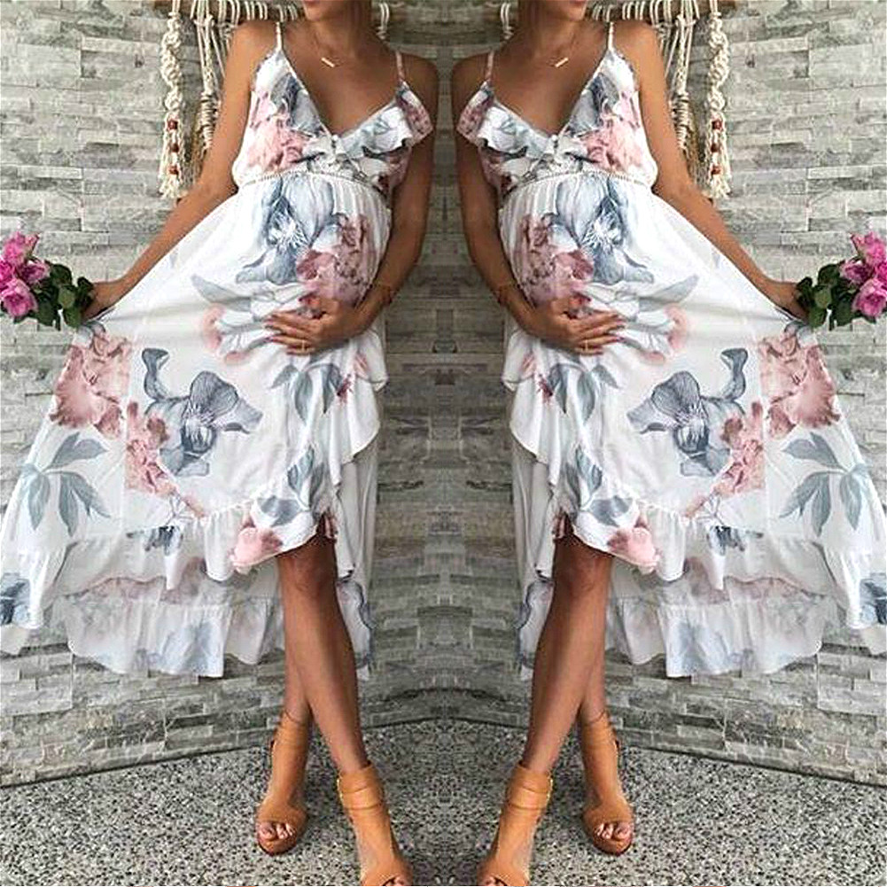 Floral Maternity Dresses Sleeveless Boho Dress for Pregnant Women Party Wedding Pregnancy Dresses Photography Free Shiping jessica simpson women s sleeveless floral print ponte dress