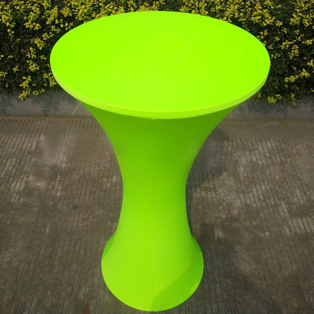 Free Shipping 10pcs Lime Green Round Based Lycra Spandex Tail Table Cloths Wedding Stretch Bar