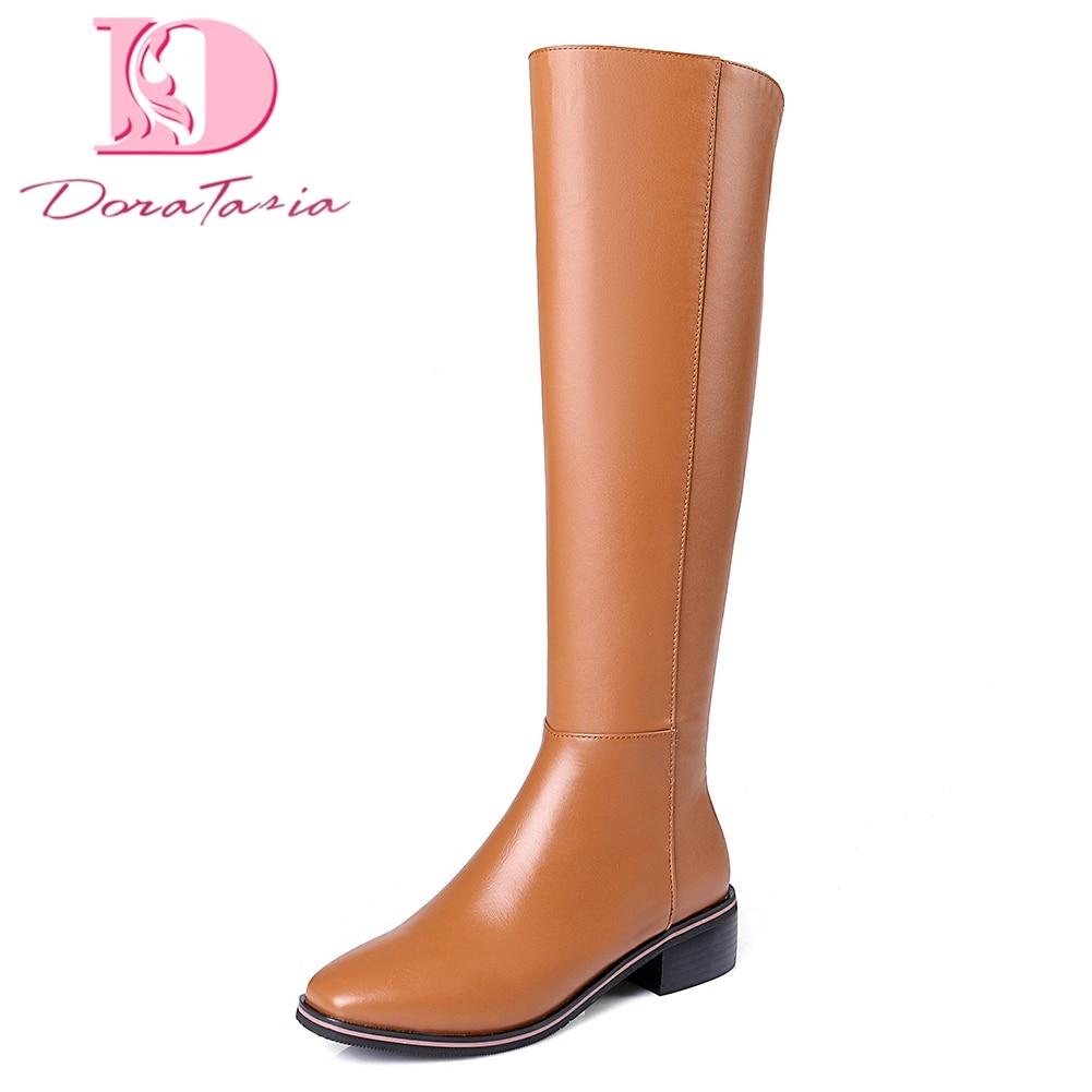 Doratasia Brand NEW plus Size 33-42 genuine Cow Leather ridi