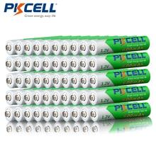 Promoção pkcell 50 pçs/lote 1.2 v 600 mah aaa nimh bateria recarregável ni mh baixo auto descarregado pré carregado baterias