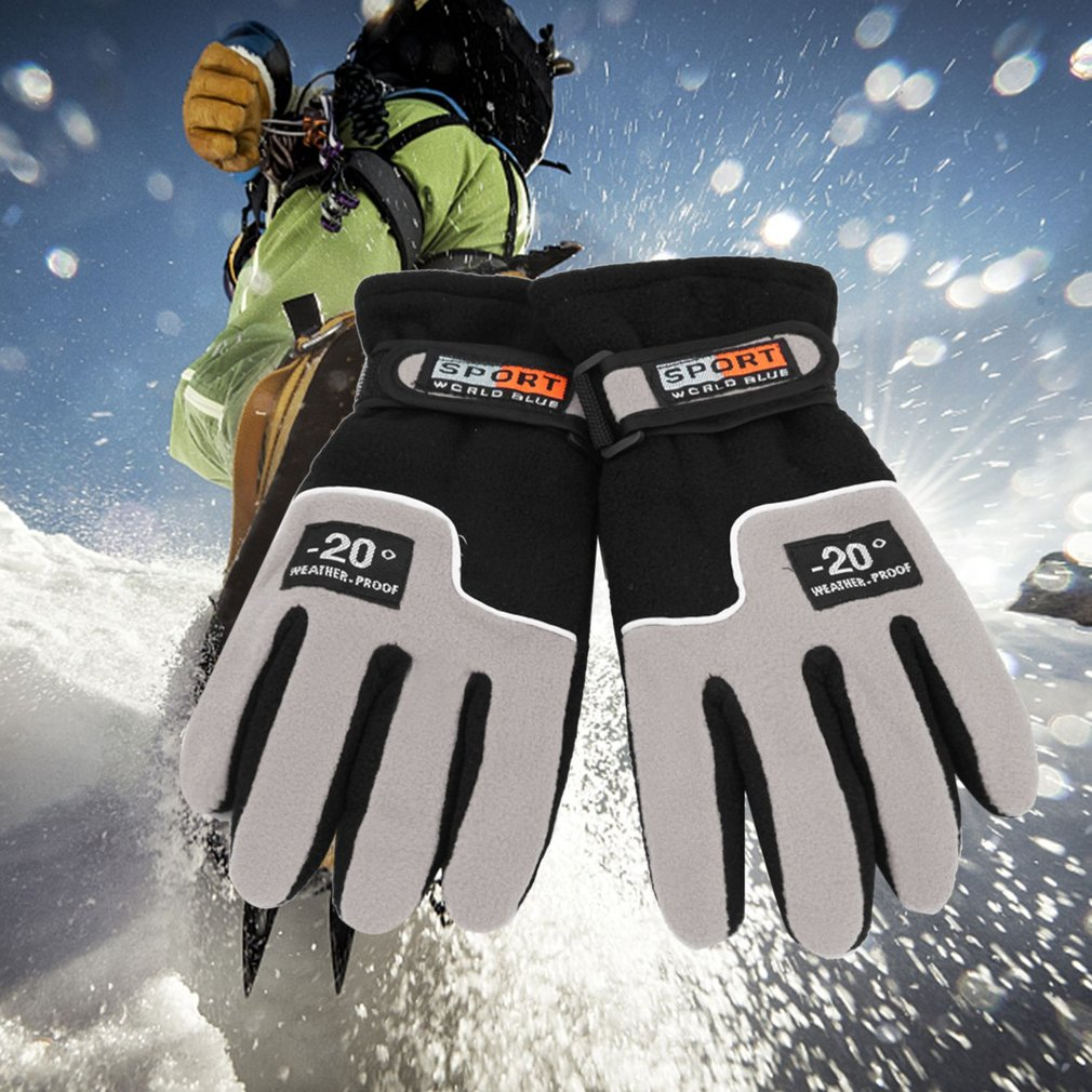 Winter Warmer Windproof Full Finger Men Women Sports Gloves Unisex Motorcycle Riding Ski Gloves Snow Snowboard Skiing Gloves