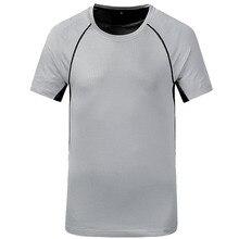 2018 Новая мода Мужчины Фитнес с короткими рукавами Тис Quick Dry Tops Crew-Neck Shirt