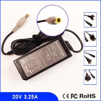 20 В 3.25a ноутбук адаптер переменного тока Мощность питания + шнур для IBM/Lenovo/Thinkpad 92p1160 92p1211 92p1212 42t5283 pa-1650-161