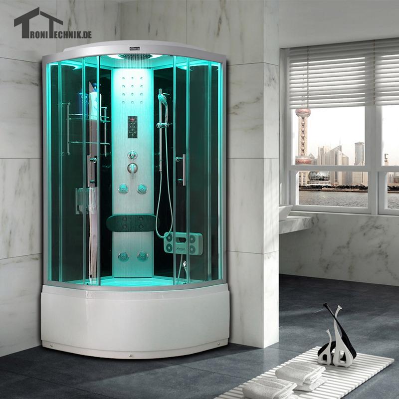 90cm Black Bath Cabin shower Room NO Steam Shower room hydro Cubicle ...