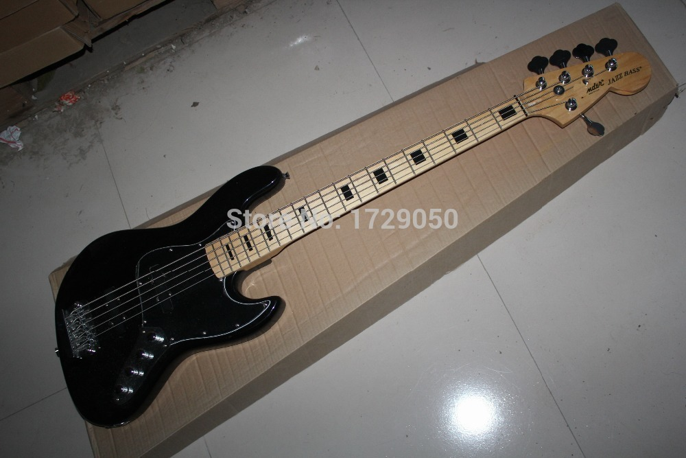 free shipping High Quality 5 Strings JAZZ  Electric Bass Guitar with Active Pickups, 5 String BASS Guitar  2017 free shipping fdr 4string jazz bass electric bass guitar 4 string bass in vintage sunburst 140605