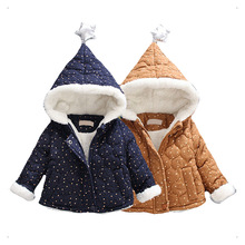 2016 Newborn infant baby boy Jackets coat thick winter clothes for baby boys velvet hooded jacket child casual sport outerwear