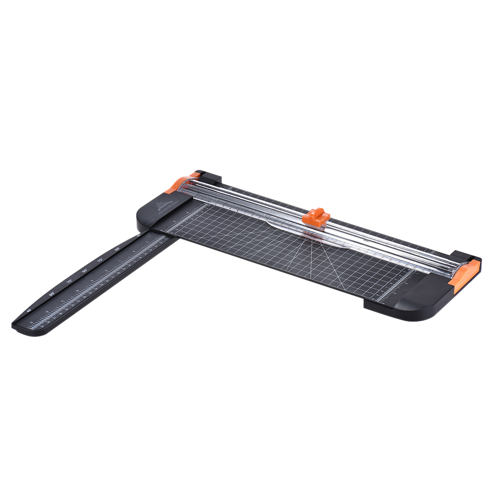 Portable A4 Paper Trimmer Cutters Guillotine with Pull-out Ruler Paper Trimmers for Photo Office Paper Labels Cutting A5 A6 A7