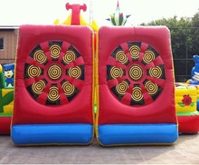 Fun sports essential items/ Inflatable soccer dart inflatables sport/inflatable soccer dartboard sport games