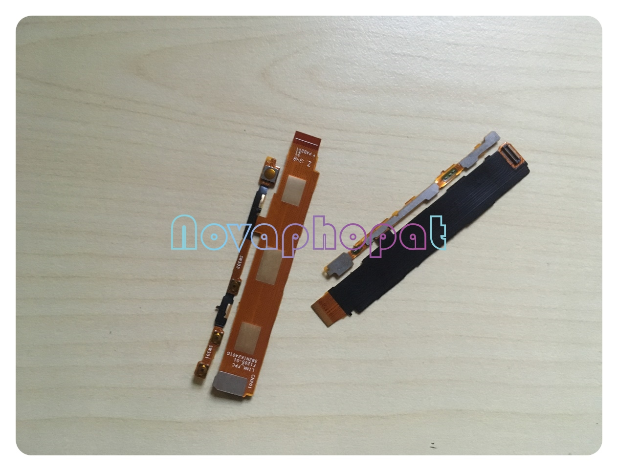 Novaphopat For Sony Xperia M C1904 C1905 Power On Off C2005 C2004 Volume Up Down Switch Button Flex Cable Replacement +tracking