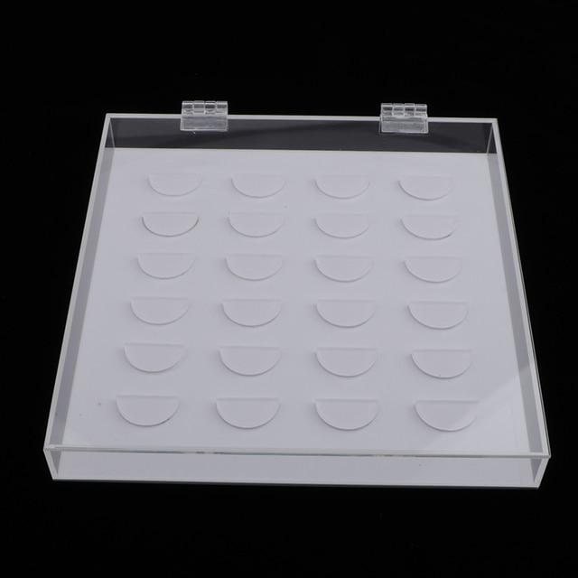 Mallette de rangement de faux cils en acrylique transparent