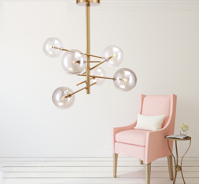 Livewin Vintage led pendant lights gold hanging lamp for kitchen Iron dining room Lamparas colgante suspension luminaire parlor
