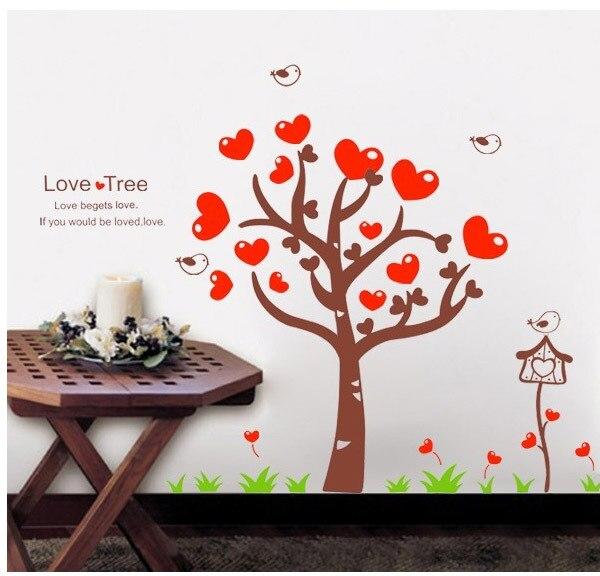 riche et magnifique super service comment commander € 5.87 |Amour Arbre Rouge Coeur Stickers Muraux Sticker Vinyle Art Enfants  Nursery Home Decor dans Stickers muraux de Maison & Jardin sur ...