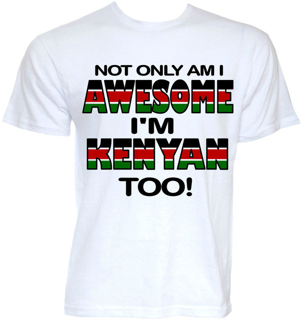 e46a555af MENS FUNNY KENYA KENYAN FLAG T-SHIRTS COOL NOVELTY JOKE FUN GIFTS PRESENTS  IDEAS Men Adult Slim Fit T Shirt S-Xxl