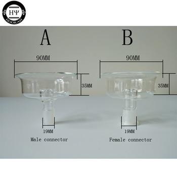 1PC BIG GLASS DEEP FLAVOR BOWL MALE FEMALE CONNECTOR BIG GLASS CHARCOAL HOLDER FOR SHISHA HOOKAH HEAD NARGILE SMOKING PARTS