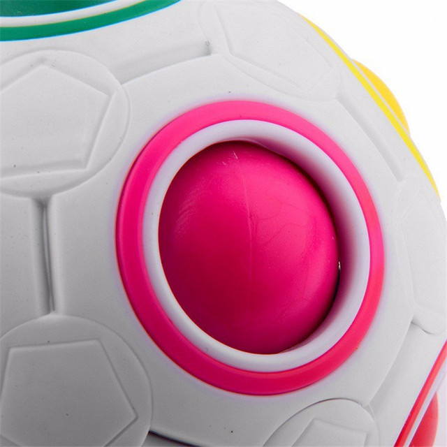 Creative Rainbow Football Puzzle Learning & Educational Toys For Children Kids Adult Spherical Magic Cube Toys 4
