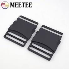 Meetee 2/5pcs 40MM Metal Release Buckle Dual Adjustable Side Pets Collar Outdoor Backpack Belt Webbing Bag DIY Accessories AP474