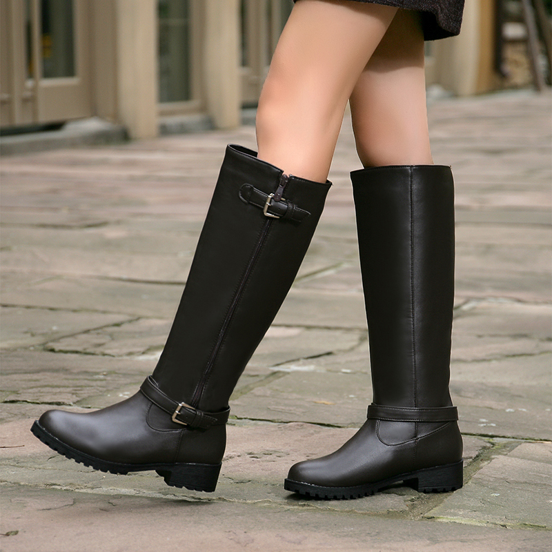 Girls Long Black Boots