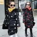 2017 Novo casaco de Inverno de Algodão-acolchoado Quentes crianças Jaqueta Crianças casaco pato Espessamento Para Baixo Casaco de Marca para menina Crianças roupas masculinas