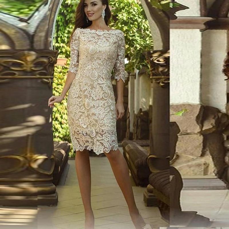 Plus Size Evening Dresses Formal Vestido De Noiva Lace Prom Party Robe De Soiree Sleeves Formal Gown Vestido De Noiva Boho