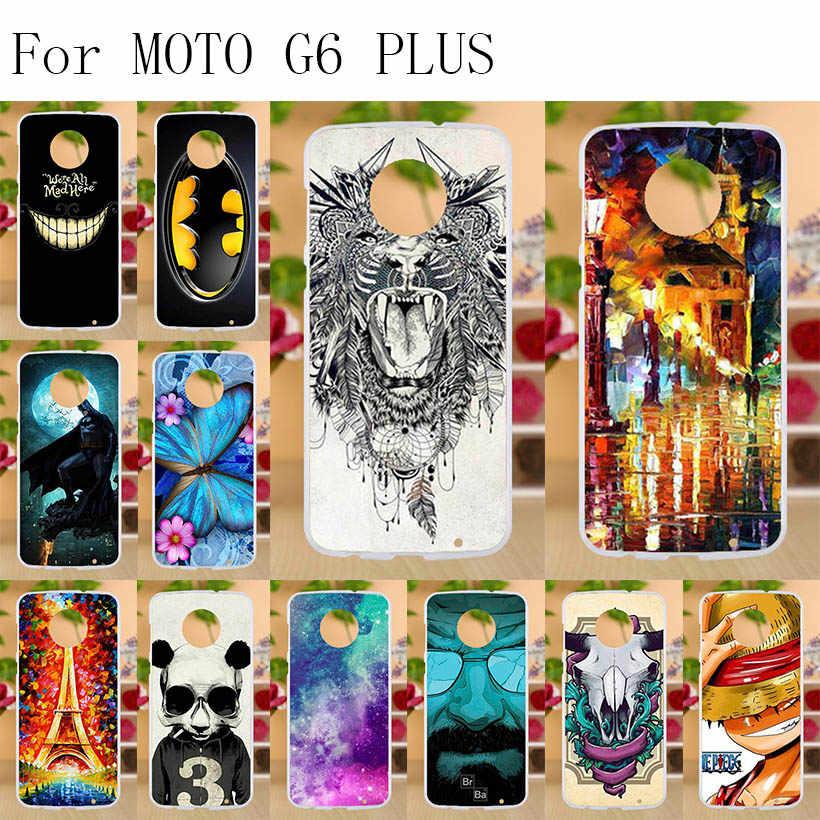 "Anunob สำหรับ Motorola Moto G6 PLUS Case Soft TPU ฝาครอบด้านหลังสำหรับ Coque Moto G6 PLUS Funda ซิลิโคนโทรศัพท์เปลือกหอย G6Plus 5.93"""
