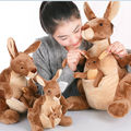 NICI plush toy stuffed doll cute mother and son love kangaroo animal parent-child bedtime story baby birthday christmas gift 1pc