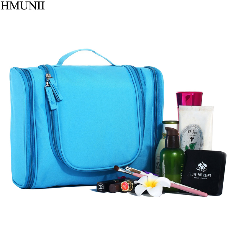 HMUNII bolso del organizador de viajes Unisex mujeres colgando bolsa de cosméticos viajes maquillaje bolsas kits de tocador almacenamiento B1-06