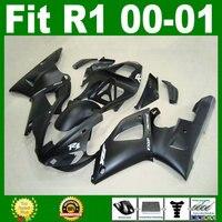 Matte black Fairings fit for YZF R1 2000 2001 year model YZFR1 00 01 bodywork fairing parts