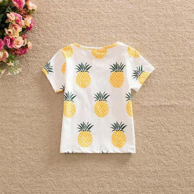 0662f5f5cea Online Shop Newest Fashion Cute Baby Girls Kids t Shirts Pineapple Print  Summer One-pieces Casual T-Shirt Clothes 2-6 Year