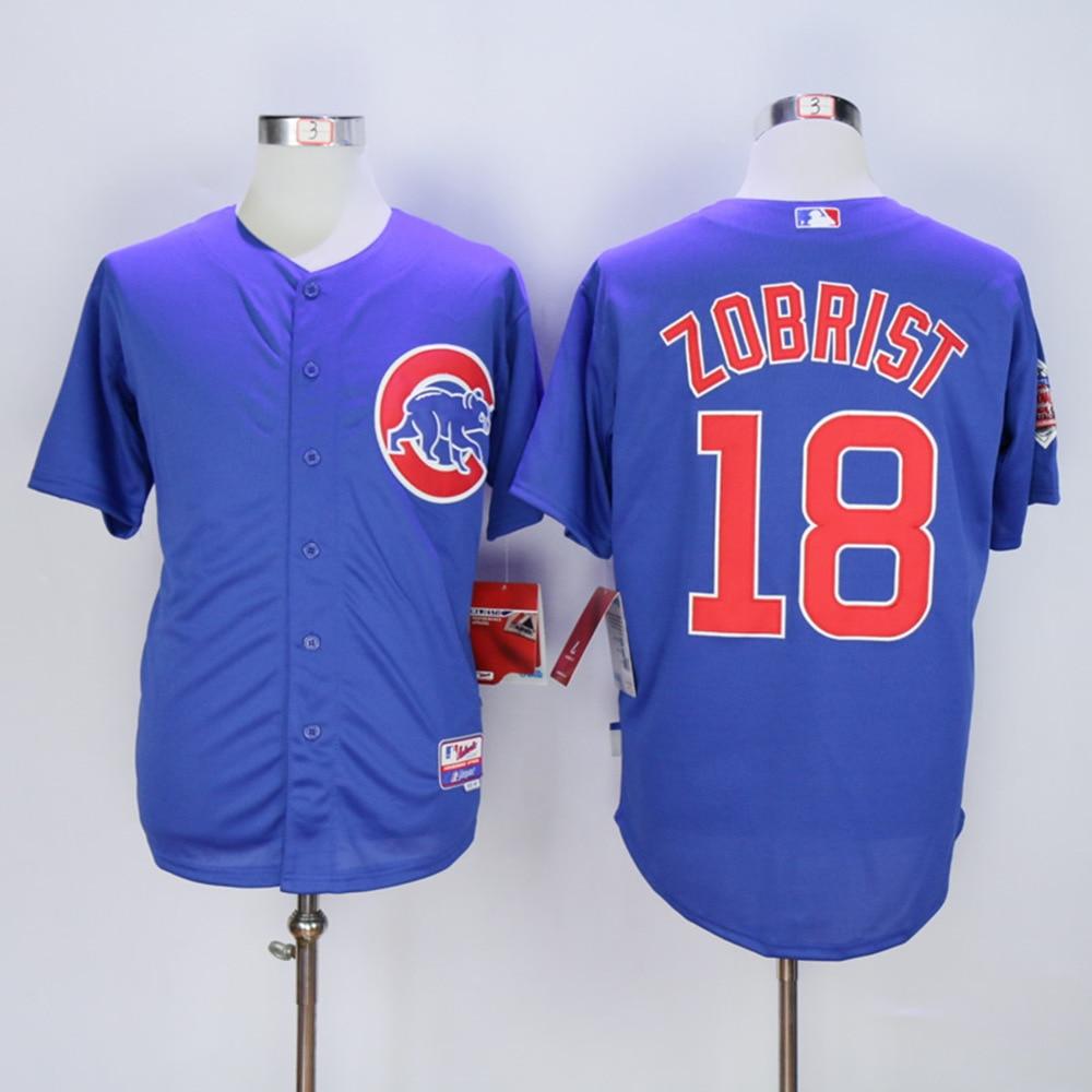 quality design f3baa dfb79 Ben Zobrist Cubs Jersey 18 Chicago Cubs Baseball Jerseys ...