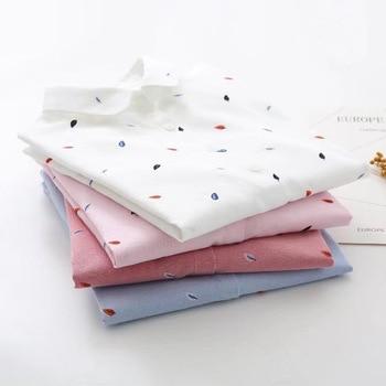 EYM Brand Printed Shirts Women 2019 Spring New Women Long Sleeve Blouse Good Quality Cotton Blouses White Tops Blusa Feminina 2