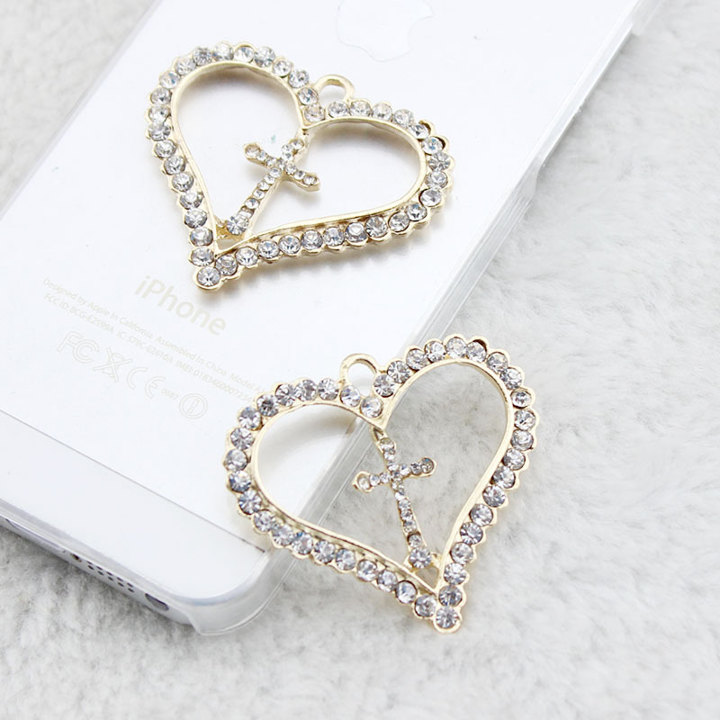 20PCS 304 Stainless Steel Heart Shape Charms Pendants for Crafting 10x11x1mm