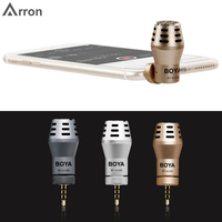 3 colour BOYA BY A100 Omni Directional Condenser Phone Microphone for iPhone 6/6S/5/5S iPad iPod Android Samsung S6 S5 S4 HTC