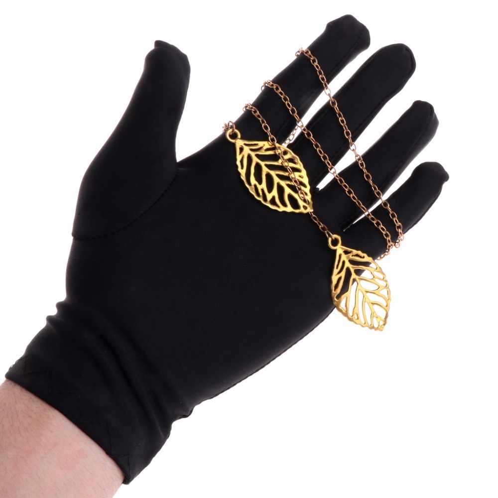 JAVRICK 1 Pair Black Inspection With Soft Blend Cotton Lisle Jewelry Gloves  For Work Protection  2S41407