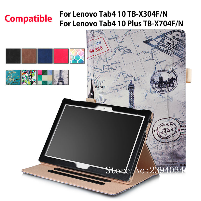 Case For Lenovo TAB4 Tab 4 10 TB-X304F/N Smart Cover For Lenovo Tab 4 10 Plus TB-X704F/N Funda Tablet Leather Hand Holder Shell top quality beads dildo sexy stopper big dildos masturbation fetish toy artificial dong suction cup dildo harness st504