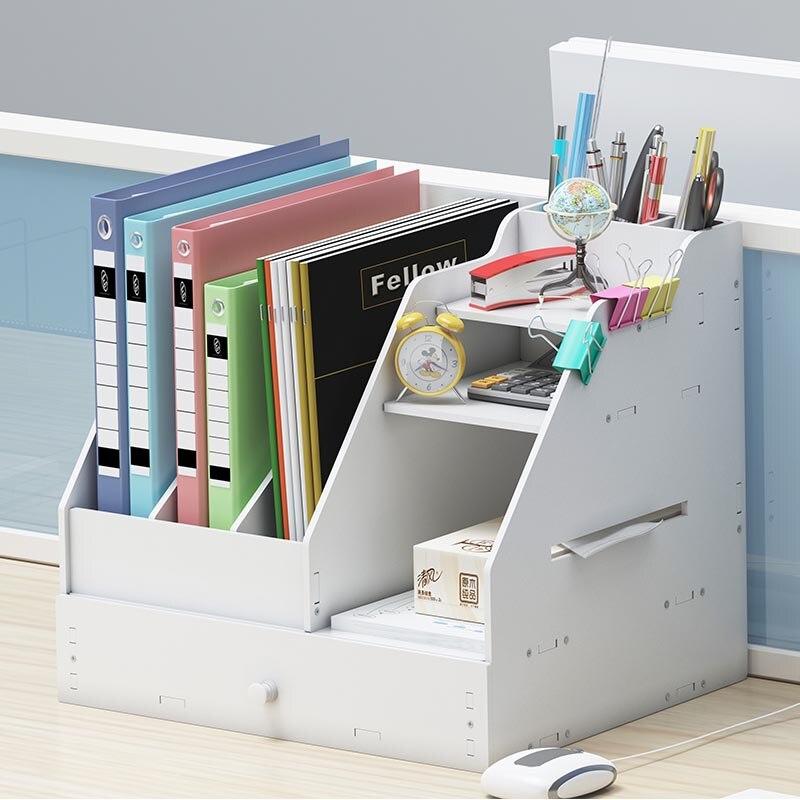 Multifunctional DIY Magazine Organizers Eco Friendly Magazine Rack File Box Books Organizers Joy Corner