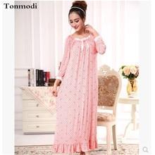 New Long Nightgown Women Cotton Long Nightgowns Princess Sleepwear Modal Long Nightdress Women lounge Nightgown Homewear