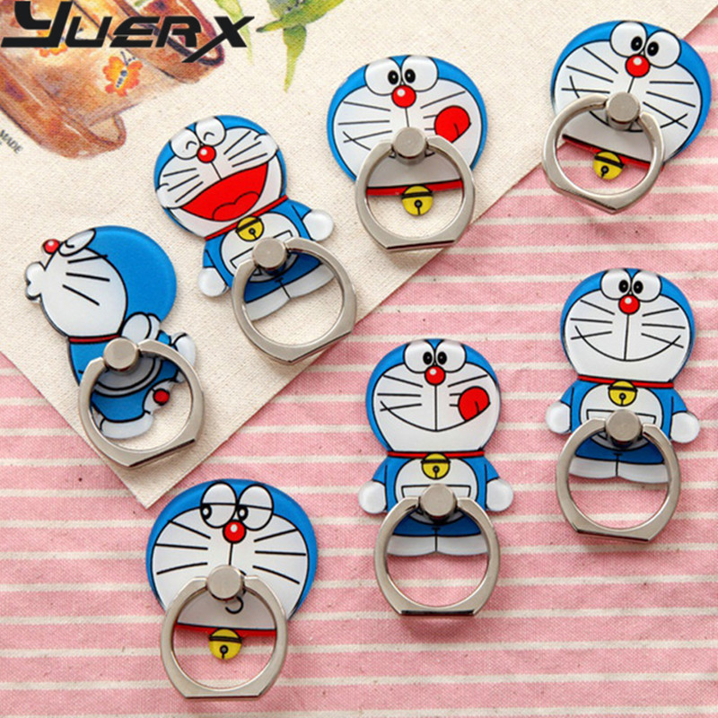 Universal bracket lazy A Doraemon cute cartoon jingle buckle ring female mobile phone holder ring