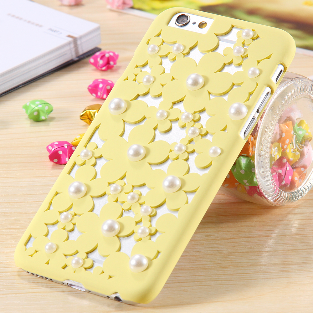uk availability 15cb5 5ca46 US $3.98 |KISSCASE Pearl 3D Flower Phone Case For iPhone 6 6S 7 Plus Ultra  Thin Slim Hard Plastic Back Cover For iPhone 7 Plus 6S 5S Capa on ...