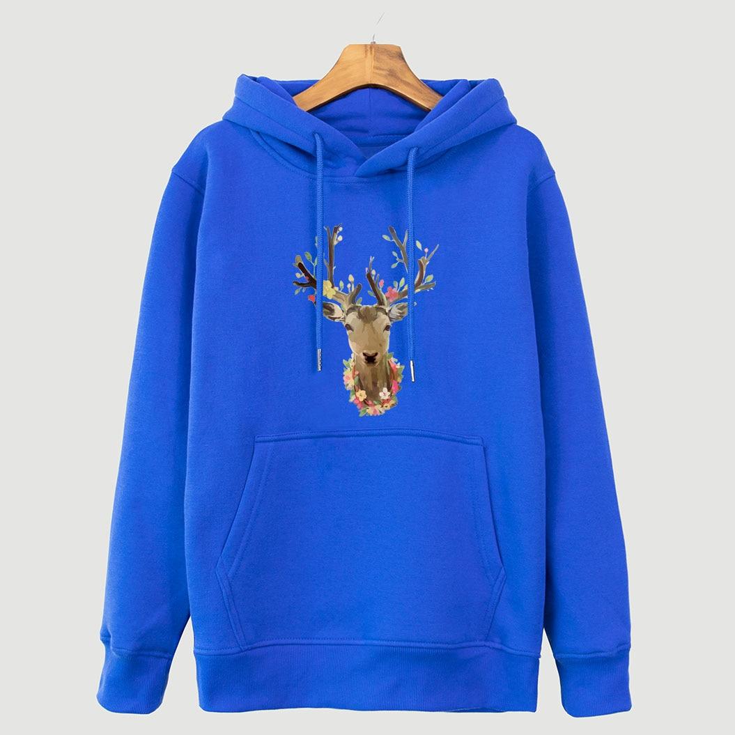 2018 Herbst Winter Marke Kleidung Sweatshirt Für Frauen Harajuku Mäntel Tier Deer Cartoon Druck Frauen Hoodies Kpop Tops Hoody