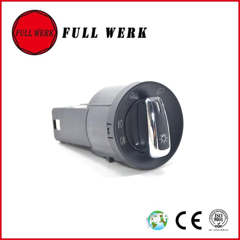 Chrome 3BD 941 531 A Auto Car Headlight Switch Fog Light Lamp Switch 3BD941531A for VW Golf MK4 Jetta 4 Bora 1998-2008 Passat B5