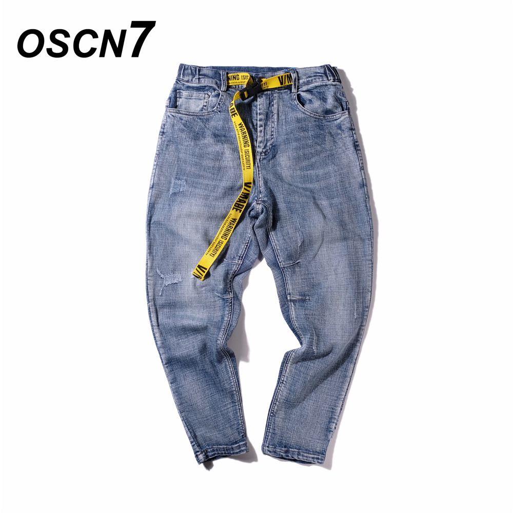 OSCN7 Hip Hop Jeans Men 2018 New Streetwear Denim Celana Jeans Pria Plus Size Casual Pantalon Homme Jean hot new large size jeans fashion loose jeans hip hop casual jeans wide leg jeans