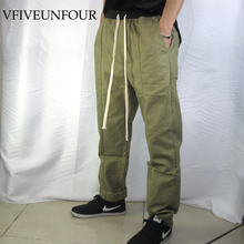 VfiveNnfour Vintage Loose Pants 2019 Men Hip Hip Harajuku Cargo Joggers Tactical Trousers Casual Drawstring Joggers Pants