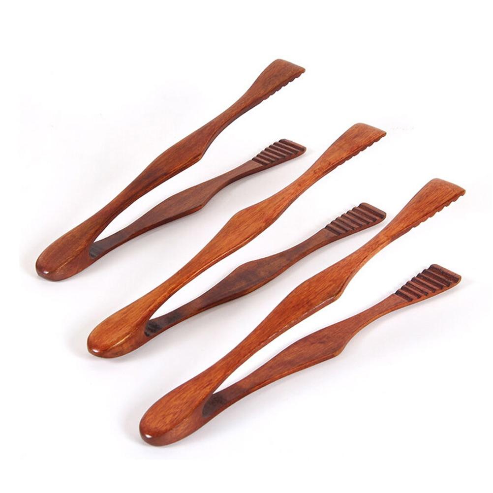 Pinces de Toast Gateau Dessert Pain en Bois Naturel Bambou Cuisine Cuisson